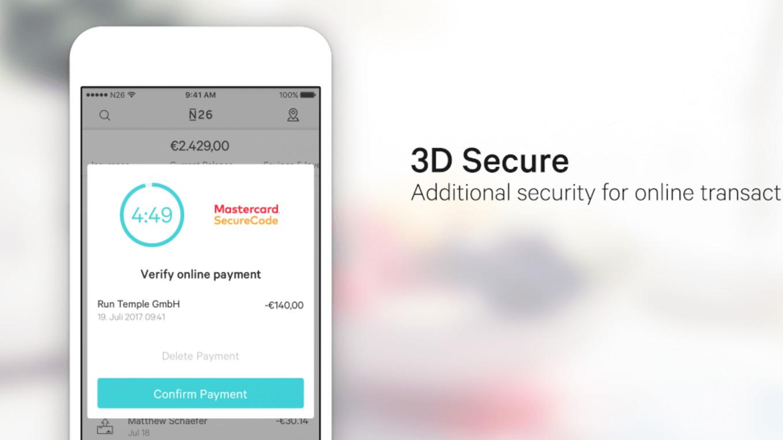 Cos'è 3D Secure e come funziona su N26