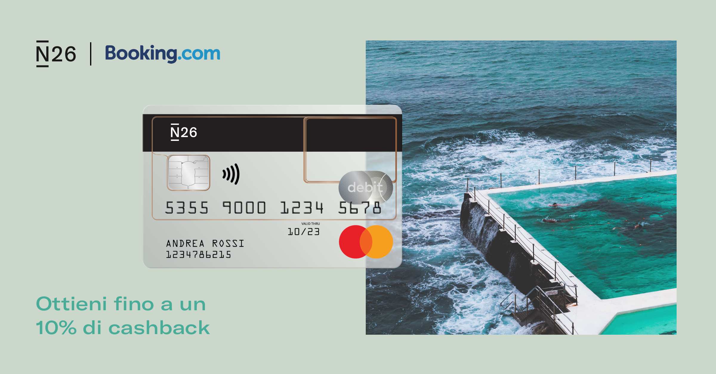 N26 + Booking.com = 10% cashback